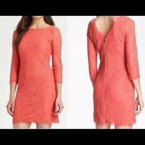 DVF Zarita Dress in Grapefruit NWOT SZ 4